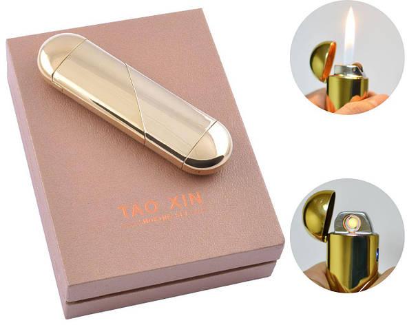 USB зажигалка в подарочной упаковке (Спираль накаливания, Обычное пламя) №4820, фото 2