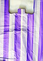Пакет полиэтиленовый Майка Полоса 50 х80 см / уп-50шт
