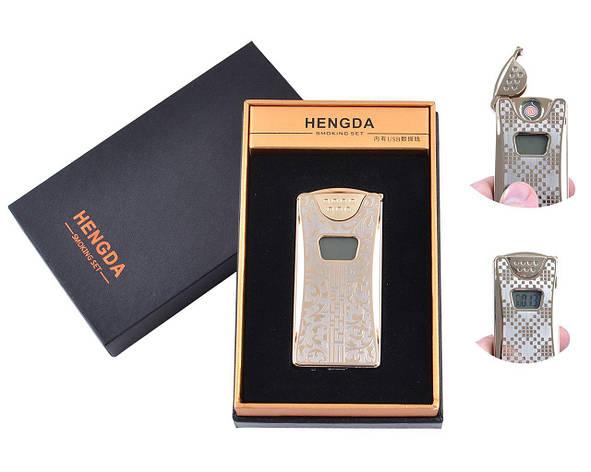 USB зажигалка в подарочной упаковке HENGDA (Спираль накаливания, Счетчик поджигов) №XT-4873-1, фото 2