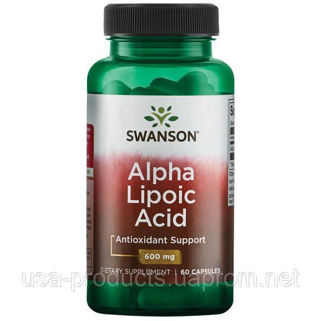 Альфа-липоевая кислота 600 мг 60 капсул США