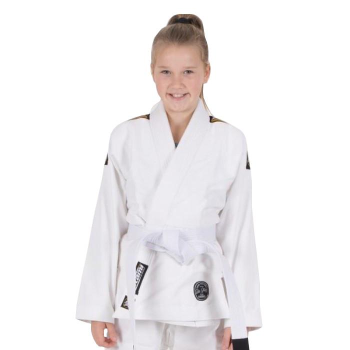 Кімоно дитяче для бразильського джиу-джитсу TATAMI Kids Nova Absolute Біле + Білий пояс в комплекті