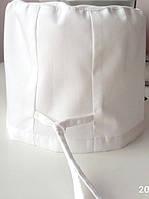 Шапочка медицинская универсал белая ,на завязках. арт. 105183 Мадлайн
