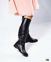 Сапоги женские кожаные черные деми, фото 1