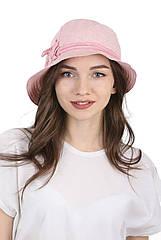 Шляпа тканевая светло-розовая