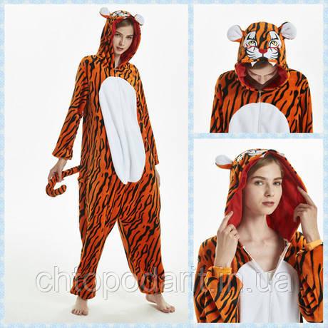 Тигр пижама Кигуруми — костюм-комбинезон