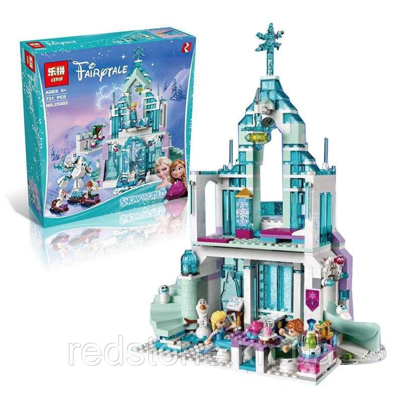 Конструктор Lepin 25002 (LEGO Disney Princess 41148) Волшебный ледяной замок Эльзы 731 дет,