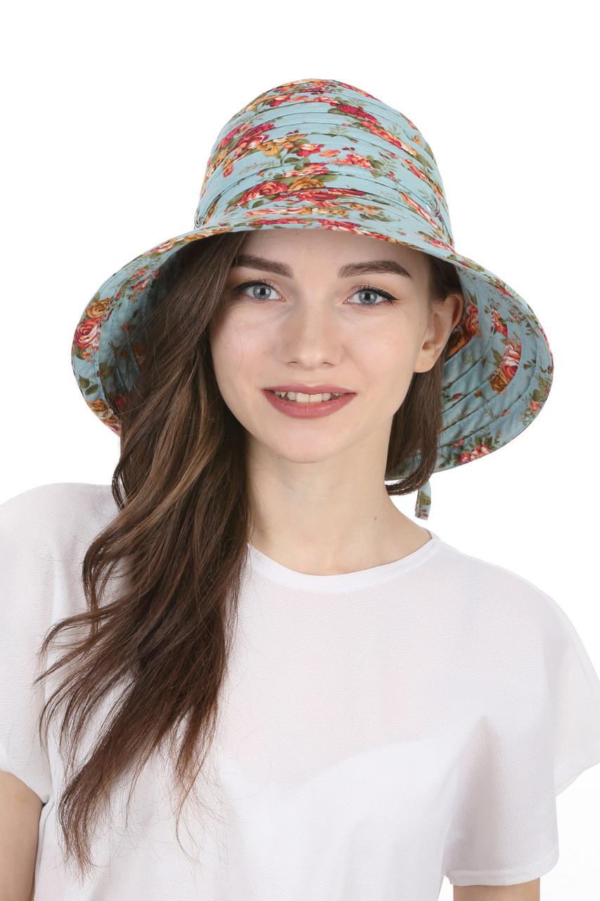 Шляпа тканевая голубая
