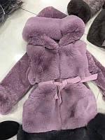 Детская шубка.  Шуба для девочек. Детская меховая жилетка с рукавами.  Размер 120-150