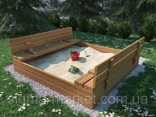 Песочница 120x120 см деревянная