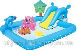 Детский бассейн со слайдом BESTWAY 53052