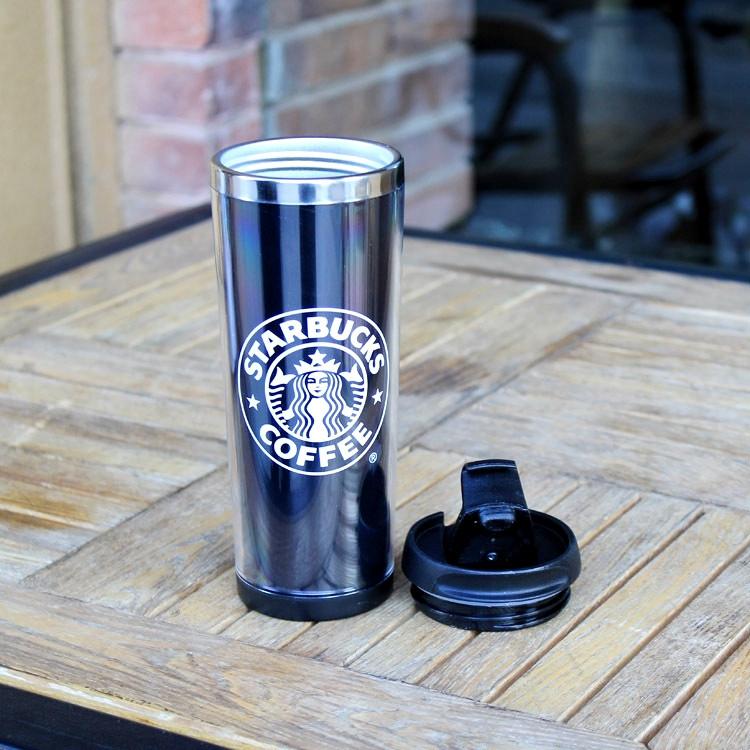 Термокружка Starbucks промо разборная с меняющимся принтом Н-203 450 ml Черный, фото 1