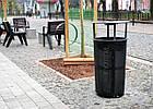 Уличная урна для мусора металическая URBAN7, фото 3