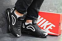 Кроссовки мужские в стиле Nike Air Max 720, резина, текстиль код SD-7043. Черно-белые