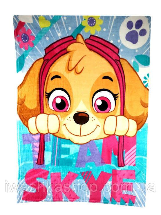 Пушистый флисовый плед, велсофт, Щенящий патруль, Скай (Skye) Paw Patrol, Nickelodeon, Sun City.