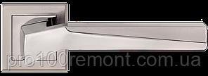 Ручка дверна на розетці МВМ NEO Z-1319 SN/CP матовий нікель/полірований хром, фото 3