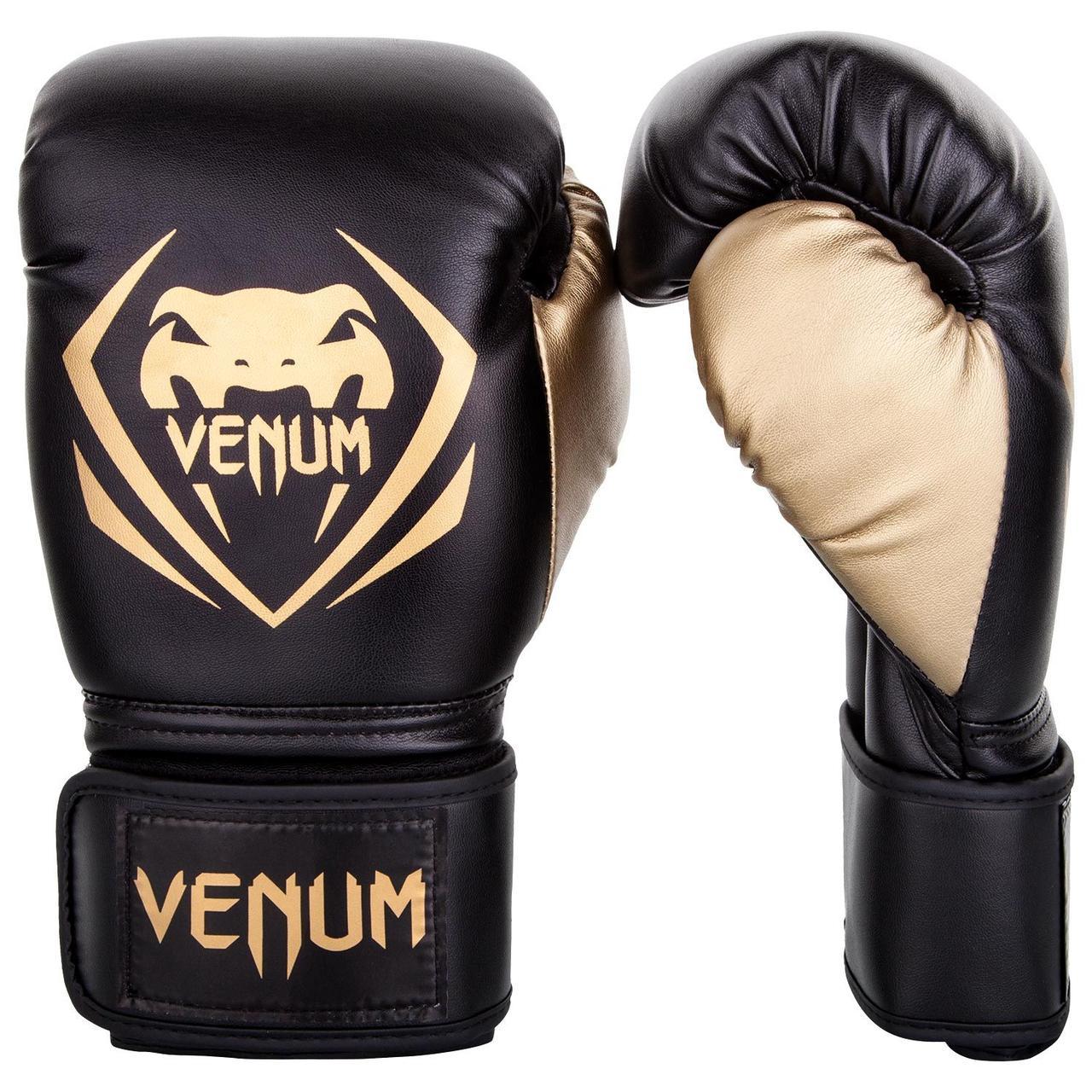 Боксерские перчатки Venum Contender Black/Gold
