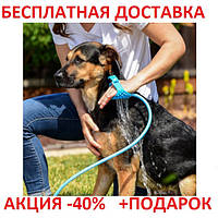 Щетка-душ для собак Pet Bathing Tool Cardboard case для мытья и вычесывания животных Original size
