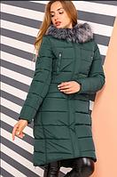 Зимнее женское пальто Кэт темная бирюза