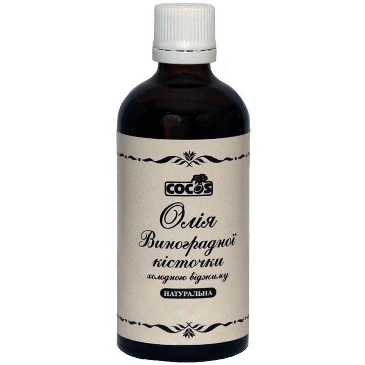 Косметична олія Cocos Виноградних кісточок натуральна холодного віджиму 50 мл