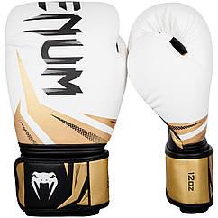 Боксерські рукавички Venum Challenger 3.0 White/Black/Gold