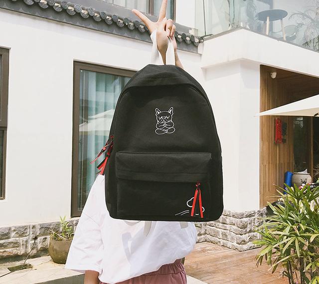 Рюкзак подростковый чёрный