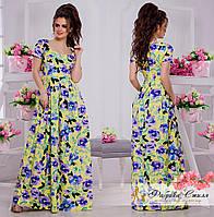 Шикарное летнее платье в пол с цветочным принтом, фото 1