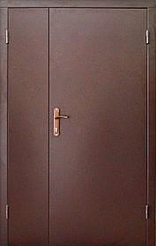 Двойные входные металлические двери в общий коридор «Редфорт»120 см. (Противопожарные)