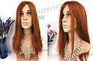 🔥 Оранжевый огненного цвета парик, из натуральных волос 🔥, фото 4
