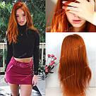 🔥 Оранжевый огненного цвета парик, из натуральных волос 🔥, фото 9