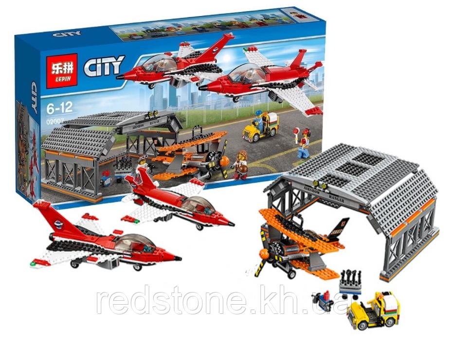 """Конструктор Lepin 02007 (Lego City 60103) """"Авиашоу в Аэропорту"""", 723 дет"""