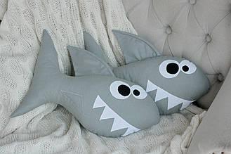 Подушка ручной работы детская Акула 30 см