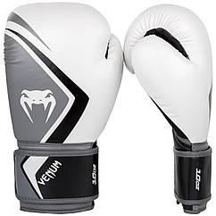 Боксерские перчатки Venum Contender 2/0 White/Grey/Black