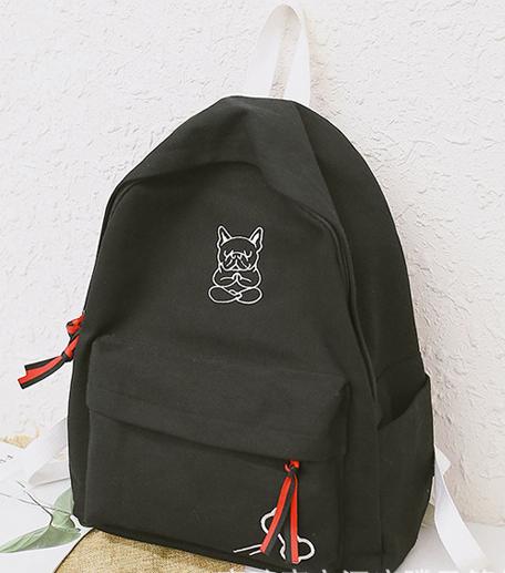Рюкзак чёрный спереди