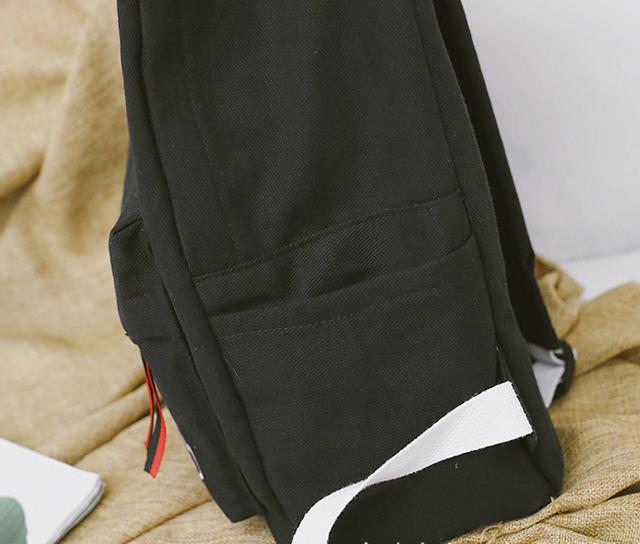 Рюкзак чёрный сбоку детальнее