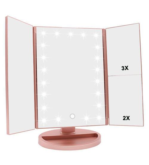 зеркало с подсветкой, make up mirror, тройное зеркало, зеркало для макияжа