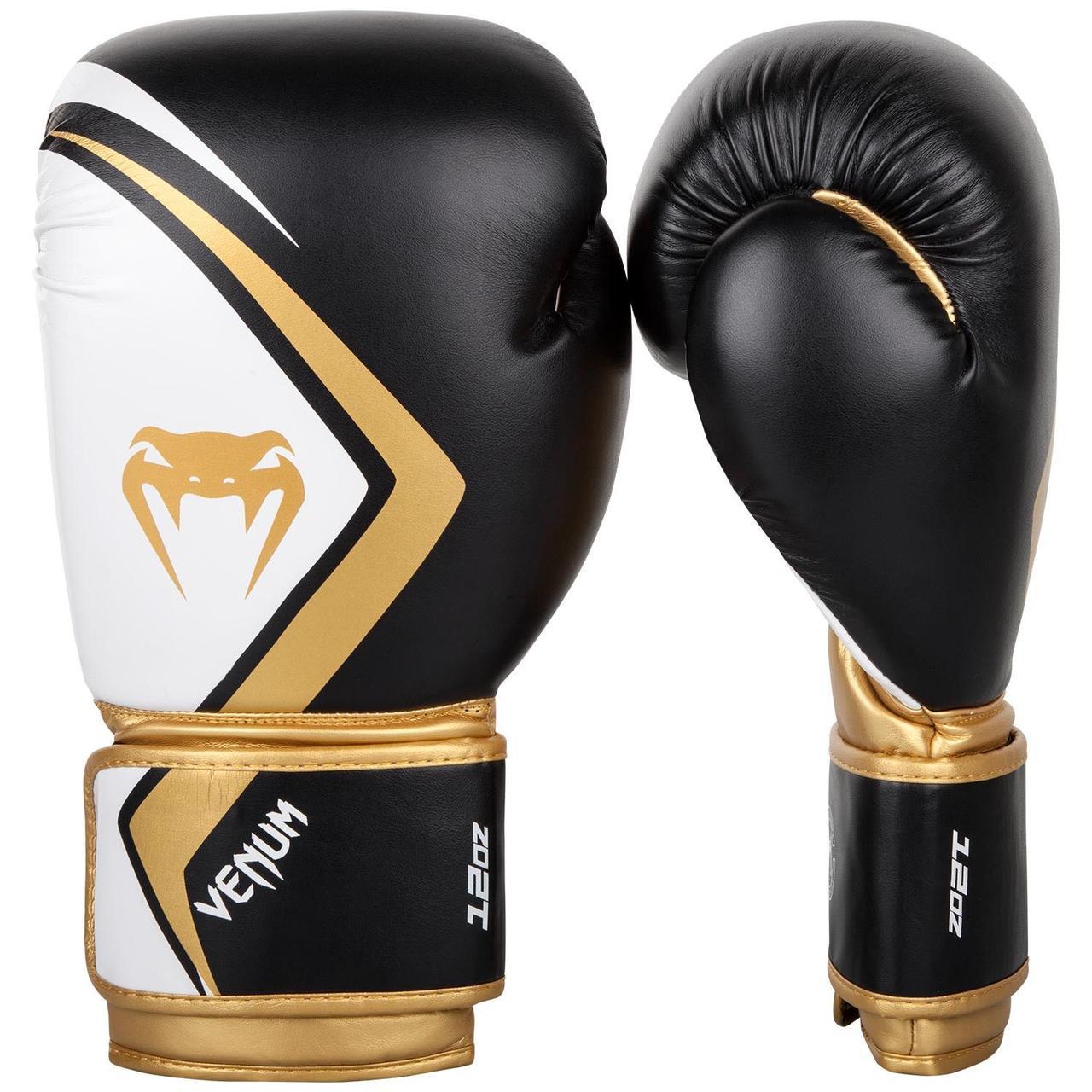 Боксерские перчатки Venum Contender 2/0 Black/White-Gold