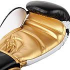 Боксерские перчатки Venum Contender 2/0 Black/White-Gold, фото 2