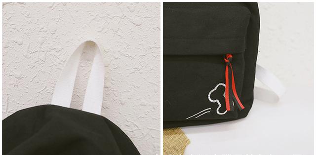 Рюкзак чёрный детали