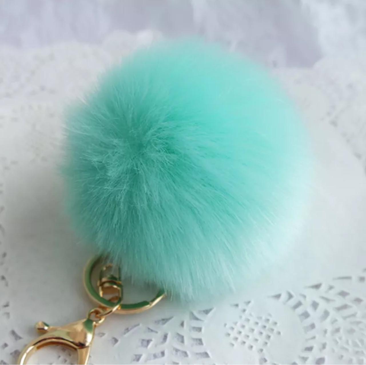 Модный брелок для ключей-помпон на сумку, пальто или ключи (зеленый)