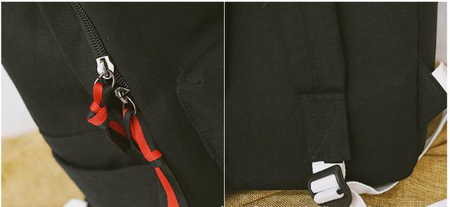 Рюкзак чёрный. Детали