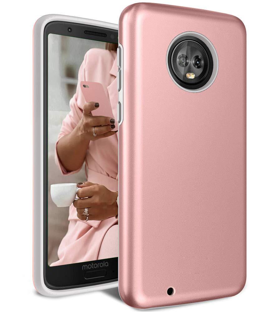 Защитный  чехол бампер для Motorola Moto G 6 розовое золото