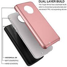 Защитный  чехол бампер для Motorola Moto G 6 розовое золото, фото 2