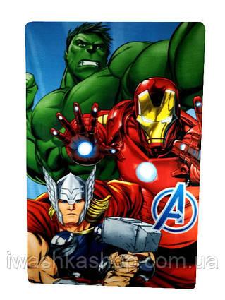 Яркий флисовый плед Мстители Avengers, Marvel, Sun City