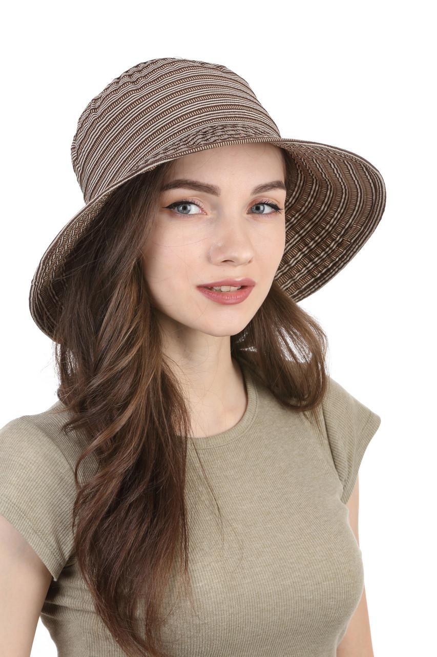 Шляпа тканевая летняя коричневая