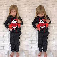 КОСТЮМ Детский тёплый на флисе с пингвином ангора