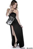 Оригинальное платье-комбинезон с открытой спиной и  шлейфом  Lilian