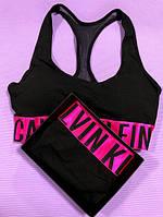 Женский комплект нижнего белья  Calvin Klein (топ +слипы) (реплика)