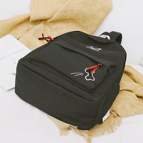 Рюкзак чёрный. Вид снизу