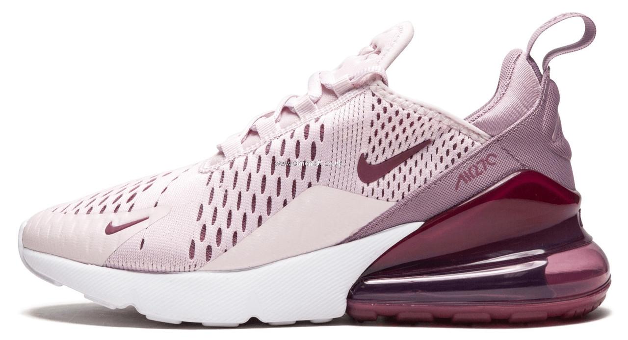 7b5bfa94 Женские кроссовки Nike Air Max 270 Pink (найк аир макс 270, розовые/бордовые
