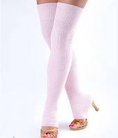 Гетры с пяткой для разогрева розовые 75см, фото 1